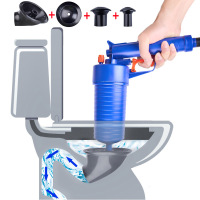 Air Power Drain Blaster Gun High Pressure Manual Sink Plunger Opener Pipe Sewer Cleaner Pump For Bath Toilets Bathroom Show love