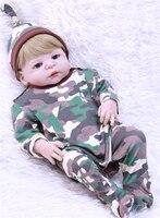 NPK 22 reborn babies full body silicone reborn baby boy dolls for children gift bebe alive born bonecas