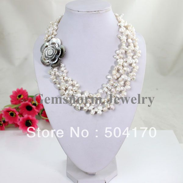 collier perle keshi
