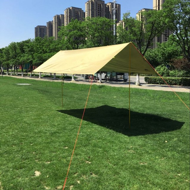 Anti UV Ultralight Sun Shelter Beach Shade Tent Outdoor Awning Canopy Waterproof 210T Taffeta Tarp C&ing & Anti UV Ultralight Sun Shelter Beach Shade Tent Outdoor Awning ...