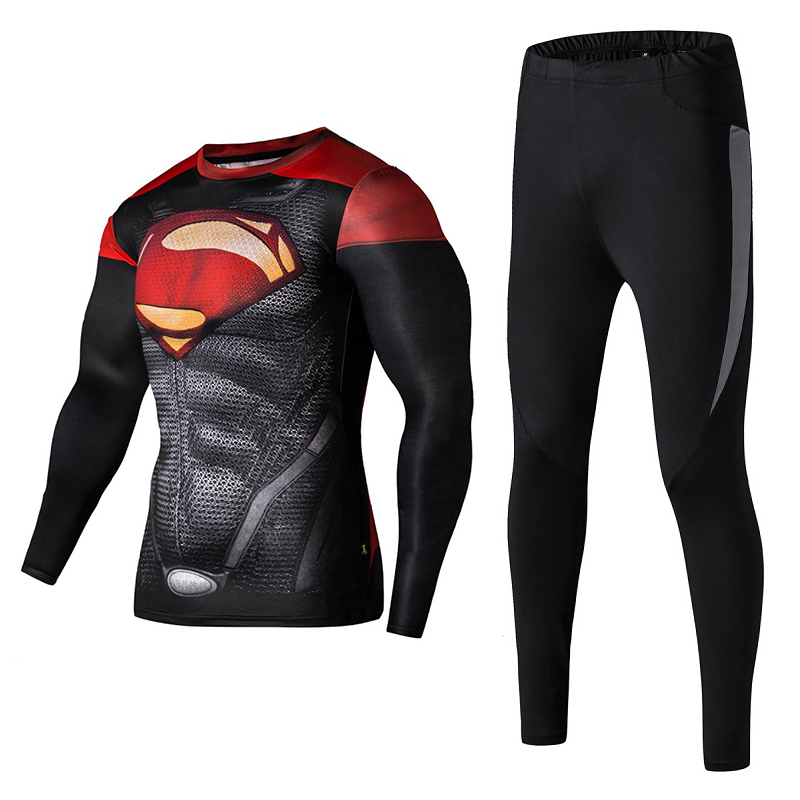 Les hommes de compression chemise manches longues de remise en forme - Sportswear et accessoires - Photo 3