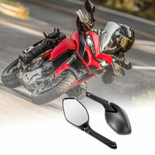 Motorcycle Black Rear View Mirror For Ducati Multistrada 1200 2015 Durable футболка wearcraft premium printio world turtle