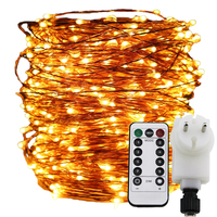 30M 50M Copper Wire Christmas Fairy Rope Lights+EU/UK Adapter String Light 300 500 LEDs Starry Lights,Remote&Timer Dimable