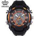 SMAEL Big Dial Digital Watch S SHOCK Men Military Army Watch Water Resistant Date Calendar LED Sports Watches Montre Homme