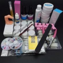 TIPART Nail Art Tool Full Set 12 Color UV Gel Kit Brush  One base coat + one top 100pcs nail tips - natural