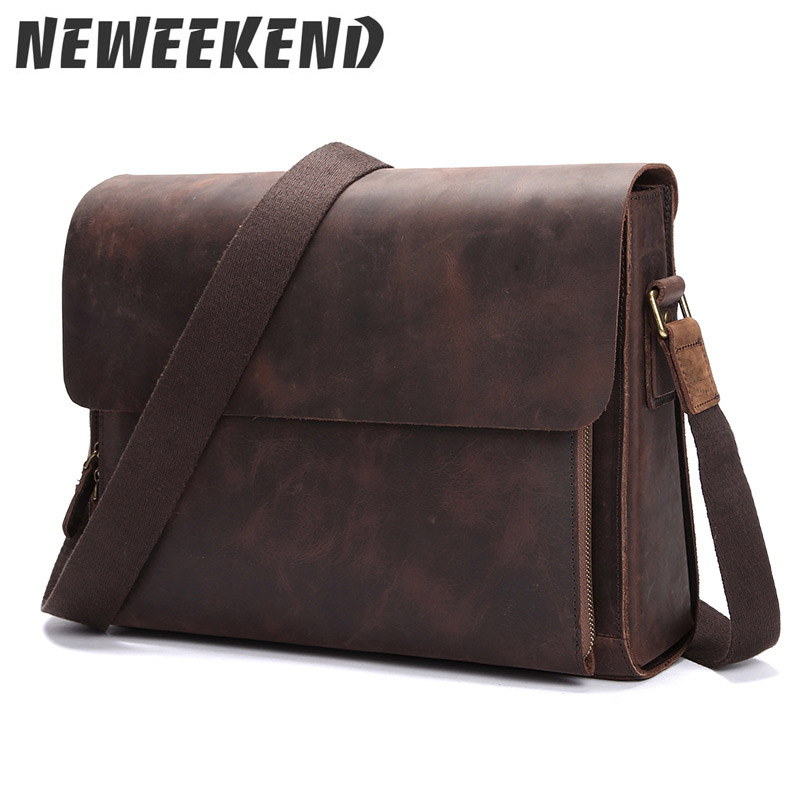 Genuine Leather Men's Vintage Retro Style Crossbody Shoulder Bag Business Messenger Briefcase Portfolio Handbag LS0176 lonati la04e7 la10p6 7 stockings machine use air latch opener d5920009