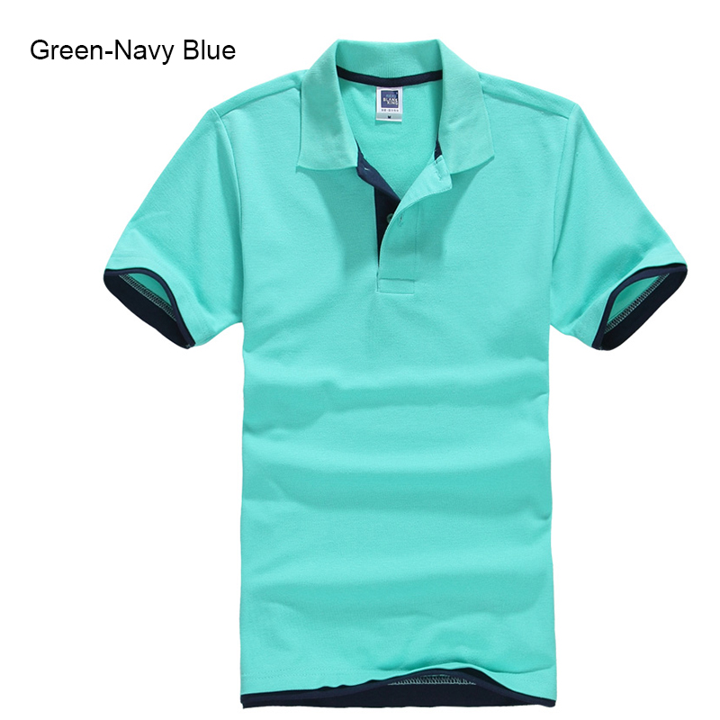 Plus Size XS-3XL Brand New Men's Polo Shirt Høy kvalitet menn Cotton Short Sleeve skjorte Merker jerseys Summer Mens Polo skjorter