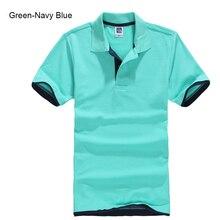 Talla grande XS-3XL a estrenar Camiseta Polo para hombre de alta calidad de algodón de manga corta Camisetas de marca de verano para hombre camisas de polo