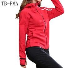 New Women Running Jackets Winter Sport Long-sleeved Running Gym Sweatshirt Cloth Fitness Zipper Jacket Outerwear Free Shipping