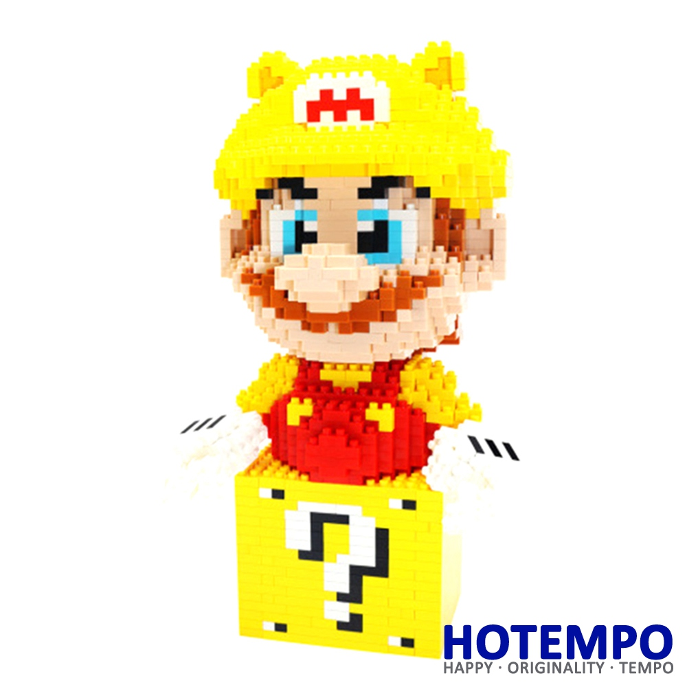 Big size Yoshi Mini Blocks Mini Building Super Hero Gold Mario DIY Model Building Blocks Toys for Children 7006 loz mini blocks batman robin ironman thor loki harley quinn poison mini super hero bricks diy building blocks toys gift