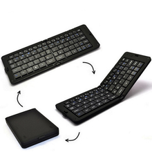 Pcocean Smart Bluetooth Keyboard for Phones Tablet PC Portable mini Folding Wireless Scissor Button Keyboard with Charging Cable