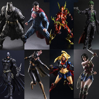 Play Arts Kai Dawn of Justice Superman Flash Freeze Batman Arkham Knight Robin Wonder woman PA Kai Model action Figure Toys