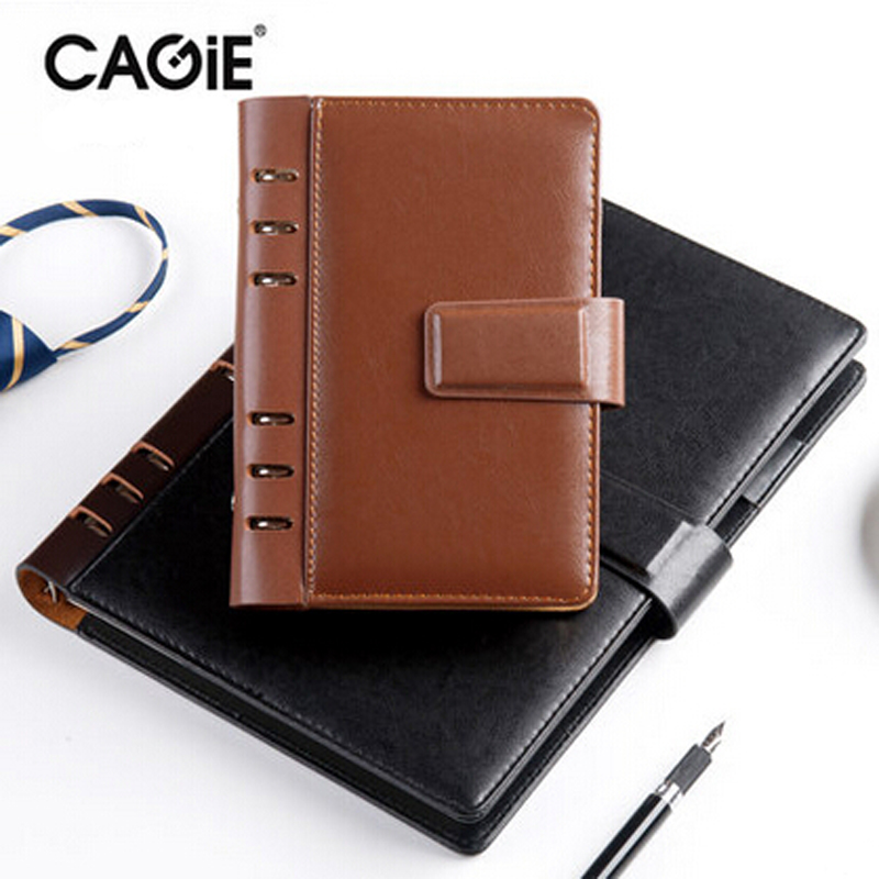 20~27Day Delivery++ CAGIE 2017 Spiral Leather Notebook