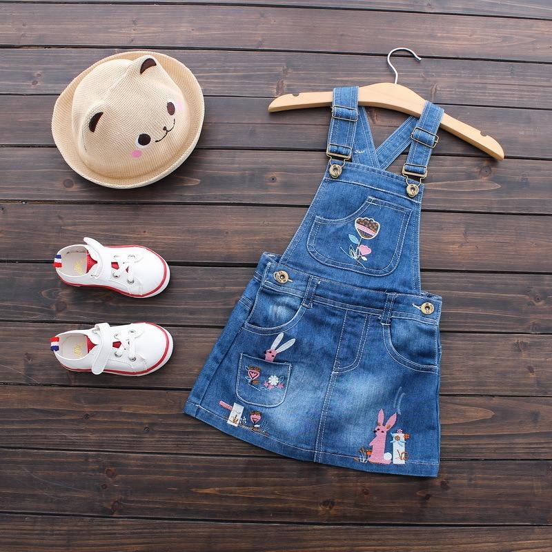 नई लड़कियों डेनिम Sundress - बच्चों के कपड़े