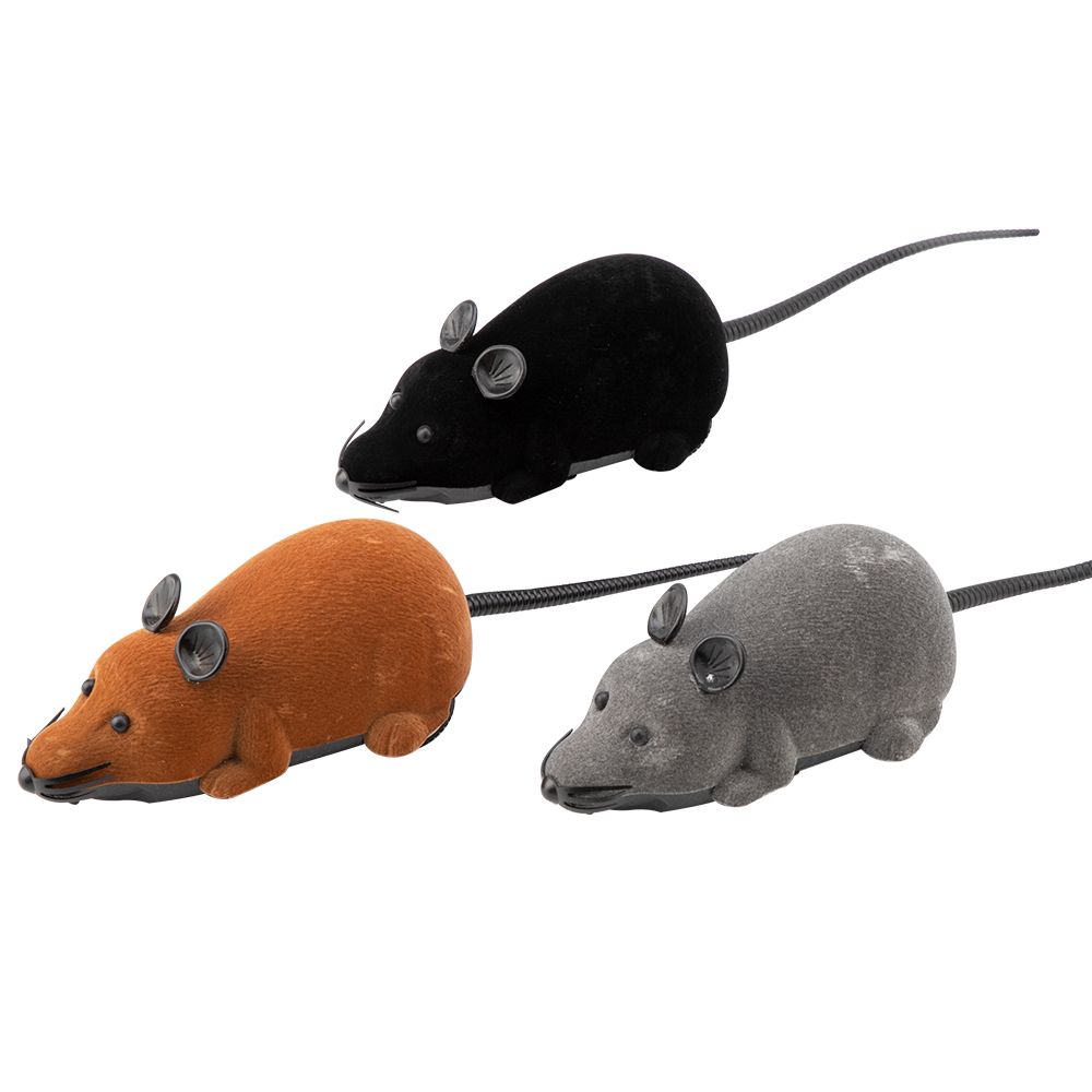 Mouse Toys Wireless RC Mice Cat Toys Remote Control False Mouse Novelty RC Cat Funny Playing Mouse Toys For Cats in Cat Toys from Home Garden