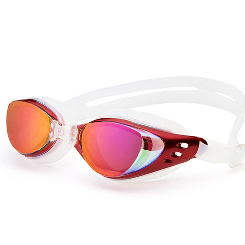 Waterproof Sports Swim Eyewear Red Blue Black Antifogging HiFi Swimming Glasses Anti Fog UV Protection Triathlon Swim Goggles