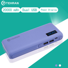 20000 mAh Real Capacity Big LED Flash Light External Battery Pack for iphone 8 for Android Phones Slim Utral-thin Power Bank