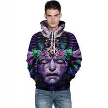 Harajuku 3D Print Colorful face Sweatshirts Fashion Long sleeve with hat Men Women Soft Hoodies Cartoon Hoody Hooded Pullover