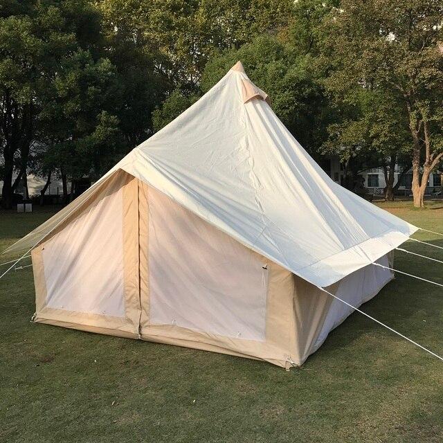 Waterproof 4m Tulip Bell Tent Durable Safari Bell Tent Family C&ing Tent Gl&ing Tent & Waterproof 4m Tulip Bell Tent Durable Safari Bell Tent Family ...