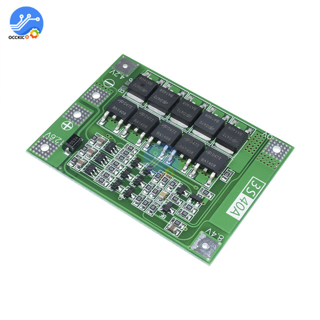3S 40A BMS Lithium Battery Protection Board Enhanced Balance version 18650 Li-ion battery charger Circuit board 11.1V 12.6V 2