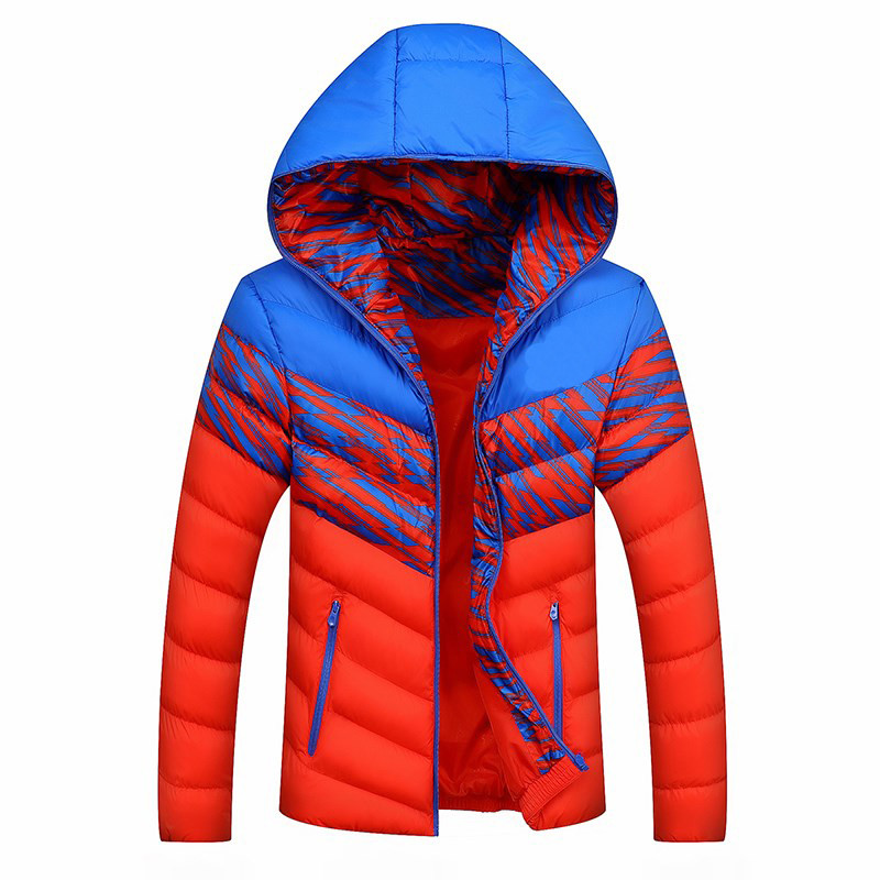 2016 autumn and winter new brand down jacket men's hooded warm fashion large size cotton Asian size L-4XL