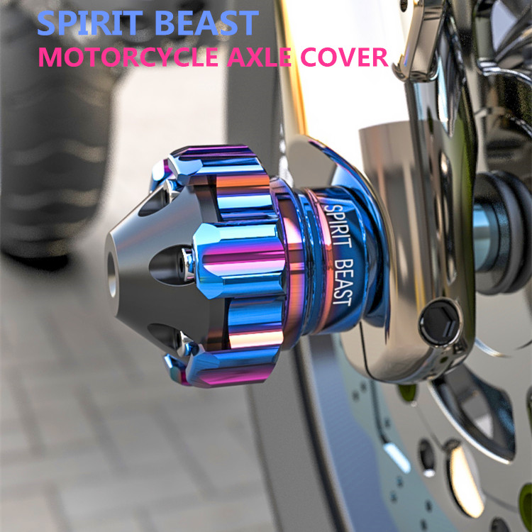 Spirit Beast Motorcycle Front Shock Absorber Fork Cup Axle Cover Protection For Honda Yamaha Kawasaki Suzuki Aprilia Ducati Ktm