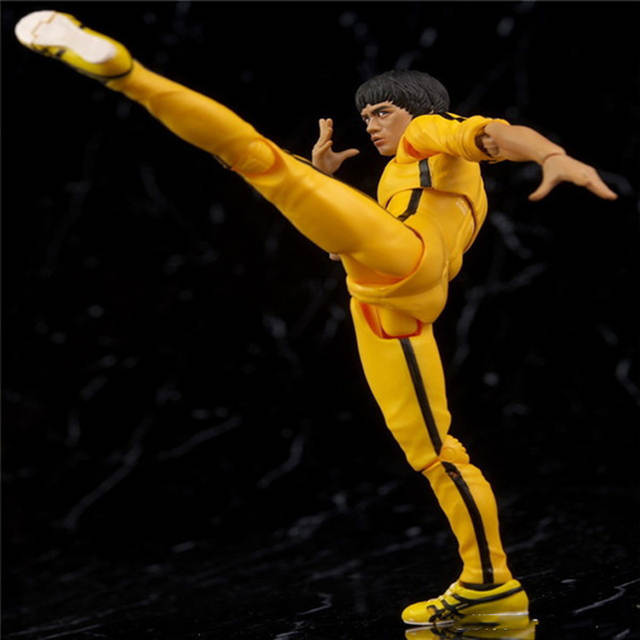 US $35 69 |14 5cm S H  Figuarts SHF Bruce Lee Kungfu Master Yellow Suit  Action Figure 75th Anniversary Toys New in BOX (Chinese Version)-in Action  &