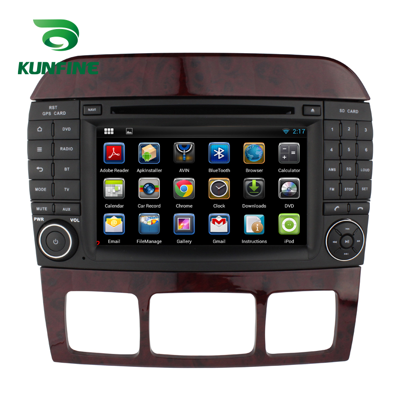 KUNFINE Android 7.1 Quad Core 2GB Car DVD GPS Navigation Player Car Stereo for Benz S W220 1999-2006 Radio headunit Bluetooth