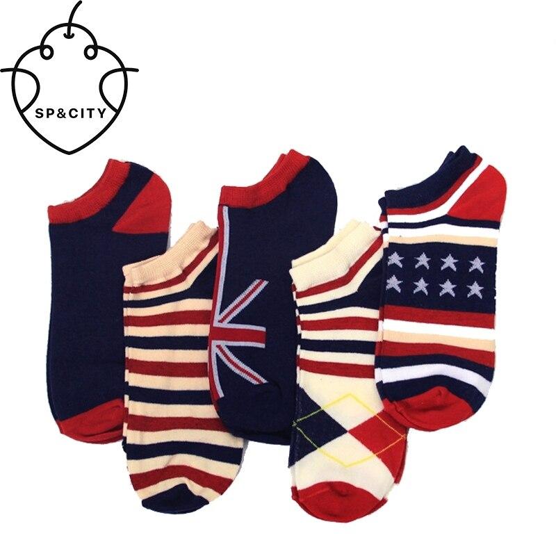 Ahornblatt Flagge Drucken Socken Männer Striped Baumwolle Unkraut Socken Calcetines Arte Chaussettes Gießen Hommes Lustige Meia