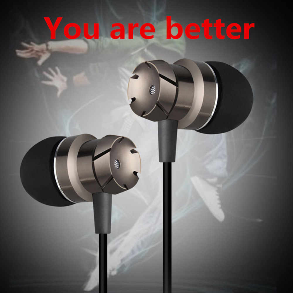 Wired In Ear Earphones Headphones Bass Headsets Sport Music Fone Ouvido Head phone with Microphone for Mobile Phone MP3/4 Player