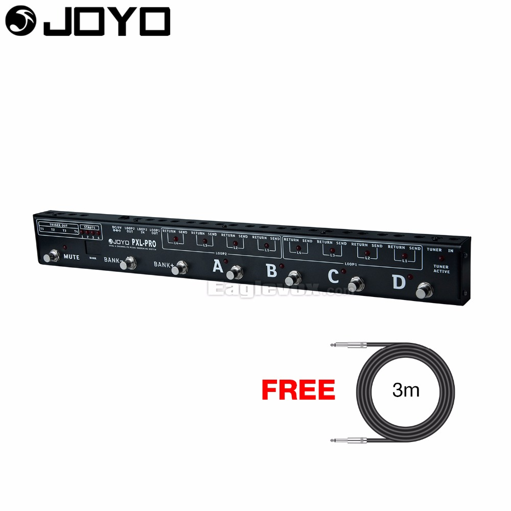 цена JOYO PXL-PRO Multi-channel Programable Looper Control Station Pedal Switcher with Free 3m Cable онлайн в 2017 году