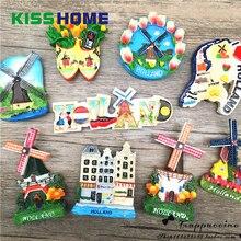 Famous Landmark Resin Refrigerator Stickers Magnetic Netherlands French Decorative 3D Fridge Magnet