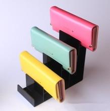 High-grade Black Wallet display rack 1-7 Layers Acrylic purse holder storage glasses Nail polish Cosmetic stand