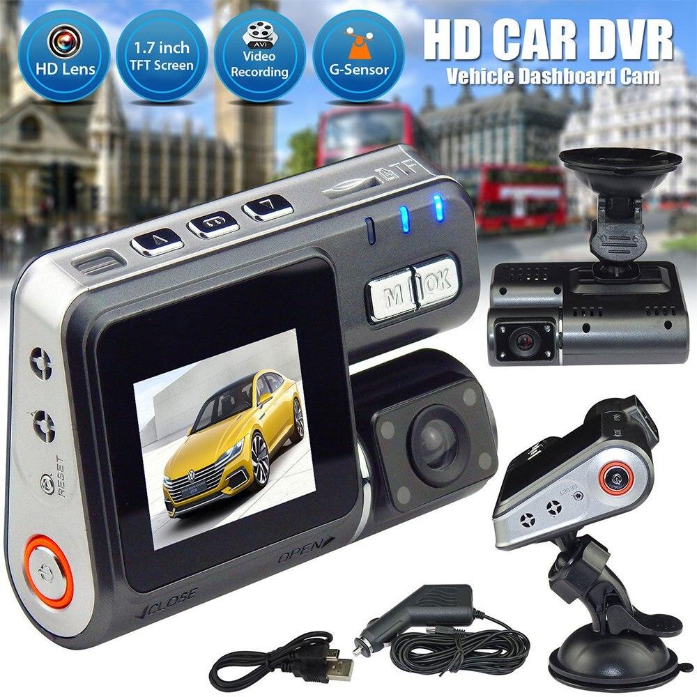 Car DVR I1000 Dual camera dvr Camcorder i1000 Auto HD 1080P Dash Cam Black Box Driving Recorder With Parking Rear lens Cameras