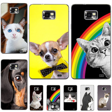 Case For Samsung Galaxy S2 Case Plastic Cover For Samsung S2 SII Patterned Cover I9100 S2 GT-I9100 Hard PC Anti-Knock Shell