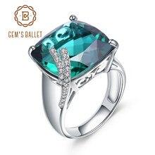 d45adb9f2121 Joya de lujo Ballet cóctel anillo genuino 925 Nano Esmeralda anillo de  piedras preciosas para la mujer fina joyería 2018 nuevo
