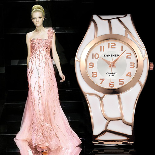 2018 Ladies Fashion 18K Gold Luxury Brand Analog Round Dial Bracelet Watches Women Clock Quartz Watch Relogio Feminino mujer kimio brand fashion luxury ceramics women watches imitation clock ladies bracelet quartz watch relogio feminino relojes mujer
