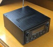Queenway системы Полный алюминиевое шасси 2DIN HiFi автомобильный усилитель звука случае cd-плеер 230 мм * 118 мм * 270 мм 230*118*270 мм