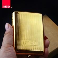 IMCO caja de cigarrillos de lujo, caja de cigarros de cobre puro auténtico, soporte para tabaco, contenedor de almacenamiento de bolsillo, accesorios para cigarrillos para fumar