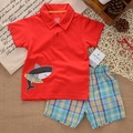 SS2-007,New Style,  Boys Sets, 2-Piece, Turn-down Collar, Short T + Shorts, Original, Super Quality, Free Shipping