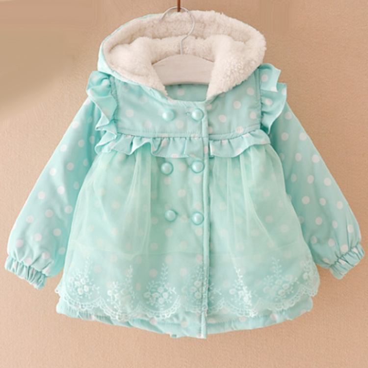 Kids Cotton Coat Baby Girls Clothing Winter Outerwear -4823