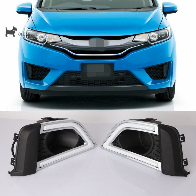 Whole For Honda Fit 2016 2017 Drl Led Driving Daytime Running Light Fog Lamp Relay Daylight Car Styling Free Shipping In Embly From