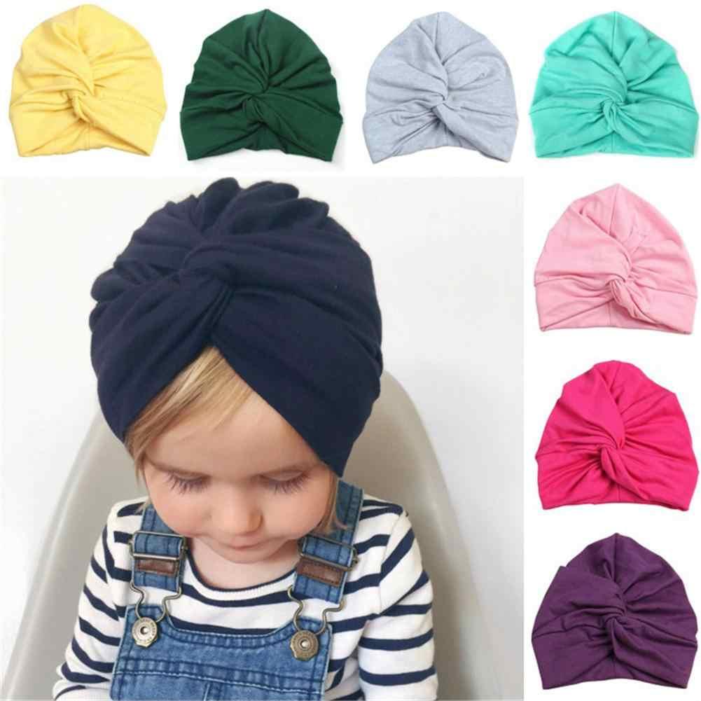 6cf5efd2418 Cute Designed Cute Baby Hat Cotton Soft Turban Knot Girl Summer Hat  Bohemian Style Kids Newborn