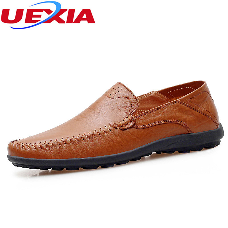 New Handmade Flats Shoes Men Fashion Breathable Casual Driving Men's Shoes Soft Leather Low Slip On Loafers Soft Zapatos Hombres new casual men shoes loafers high quality faux suede leather fashion breathable male slip on light shoes men flats soft shoes