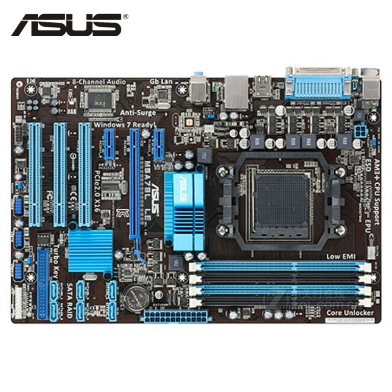 ASUS M5A78L LE Motherboard Socket AM3/AM3+ DDR3 32GB For AMD 760G M5A78L LE Desktop Mainboard Systemboard SATA II PCI-E X16 Used asus m5a97 plus motherboard ddr3 for amd 970 m5a97 plus desktop mainboard systemboard usb 2 0 sata iii pci e x16 used