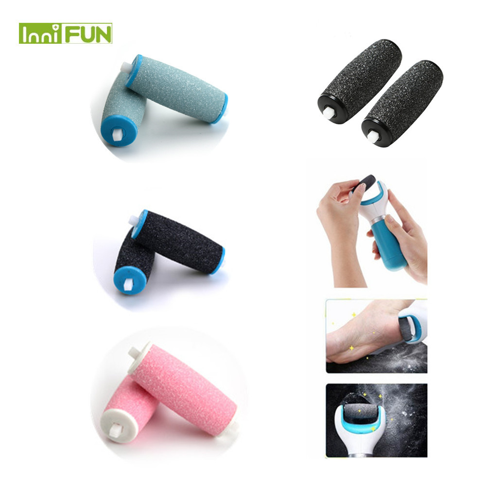 Electronic Foot File ARRIVE 2Pcs Dull Polish Foot care tool Heads Hard Skin Remover Refills Replacement Rollers For Scholls