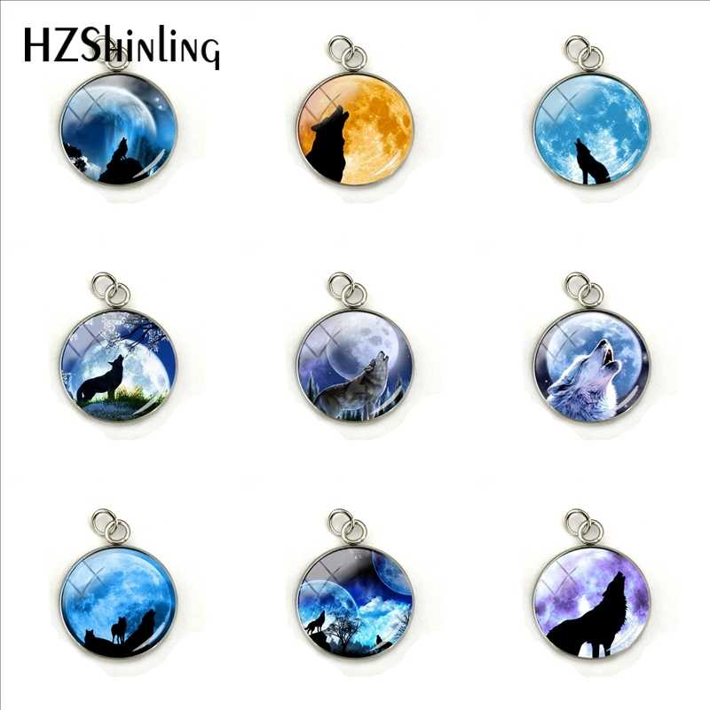 2019 New Retro Moonlight Wolf Gifts PendantsMoonlight Wolf Night Howling Hand Craft Stainless Steel Plated Charms