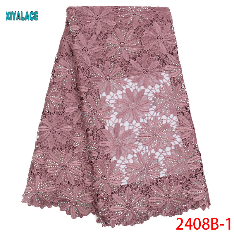 African Lace Fabrics 2019 Nigerian Swiss Voile Lace High Quality French Swiss Voile Lace In Switzerland For Wedding YA2408B-1