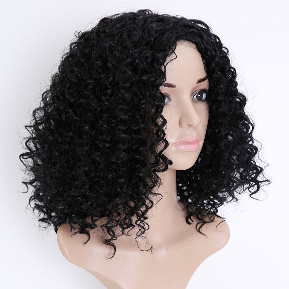 SHANGKE HAIR Afro Kinky Wig Curly Syntetiska Paryk För Kvinnor - Syntetiskt hår - Foto 2