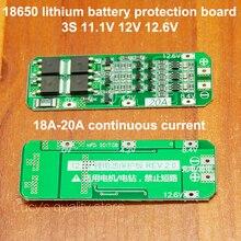 1pcs/lot 3 Series 11.1v 12v 12.6v 18650 Lithium Battery Board 8a 10a Current Diy Fittings